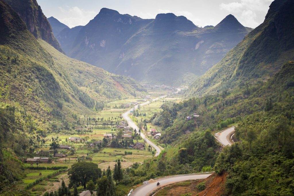 Ha Giang province is famous for its mountains and valleys