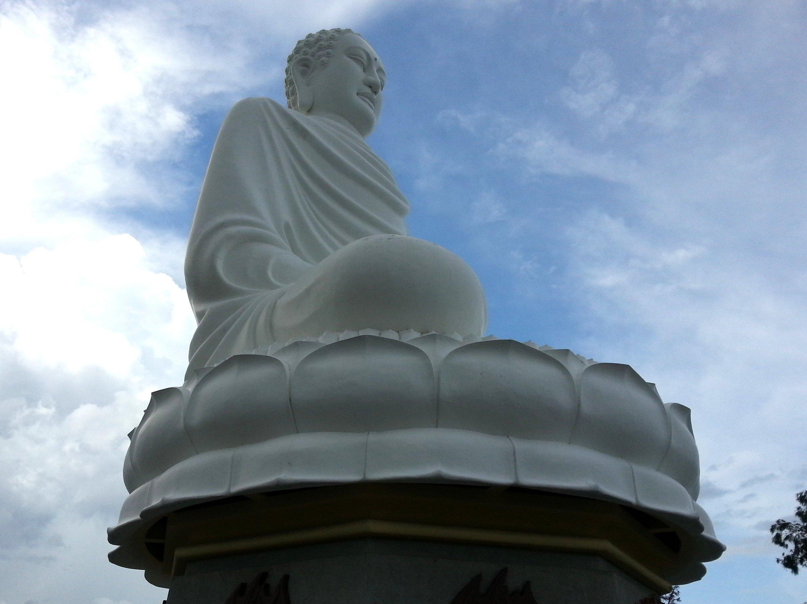 Buddha Statue at Long Son Pagoda