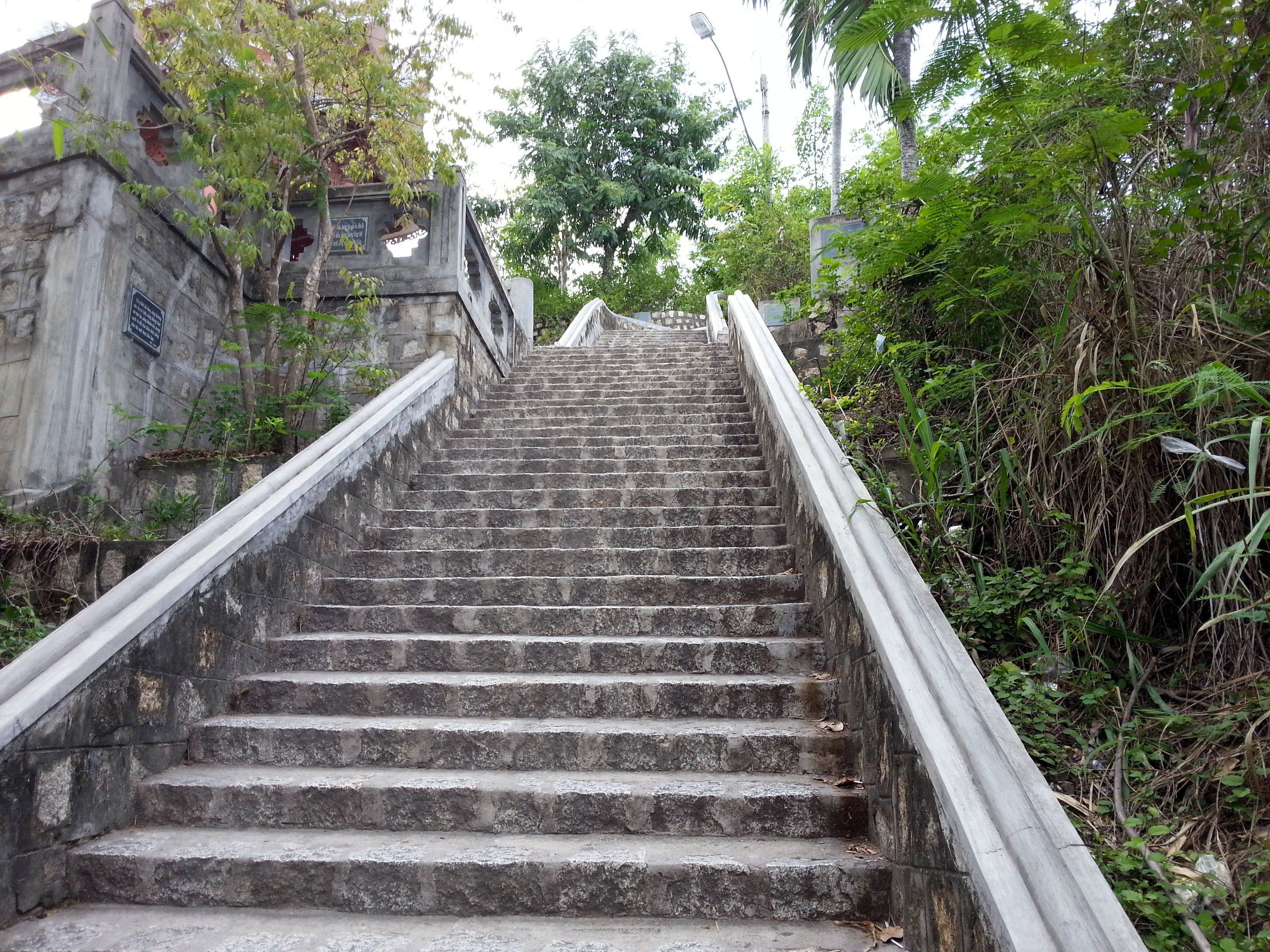 Steps up to the Buddha Statue