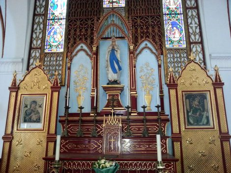 Artwork at St Joseph's Cathedral