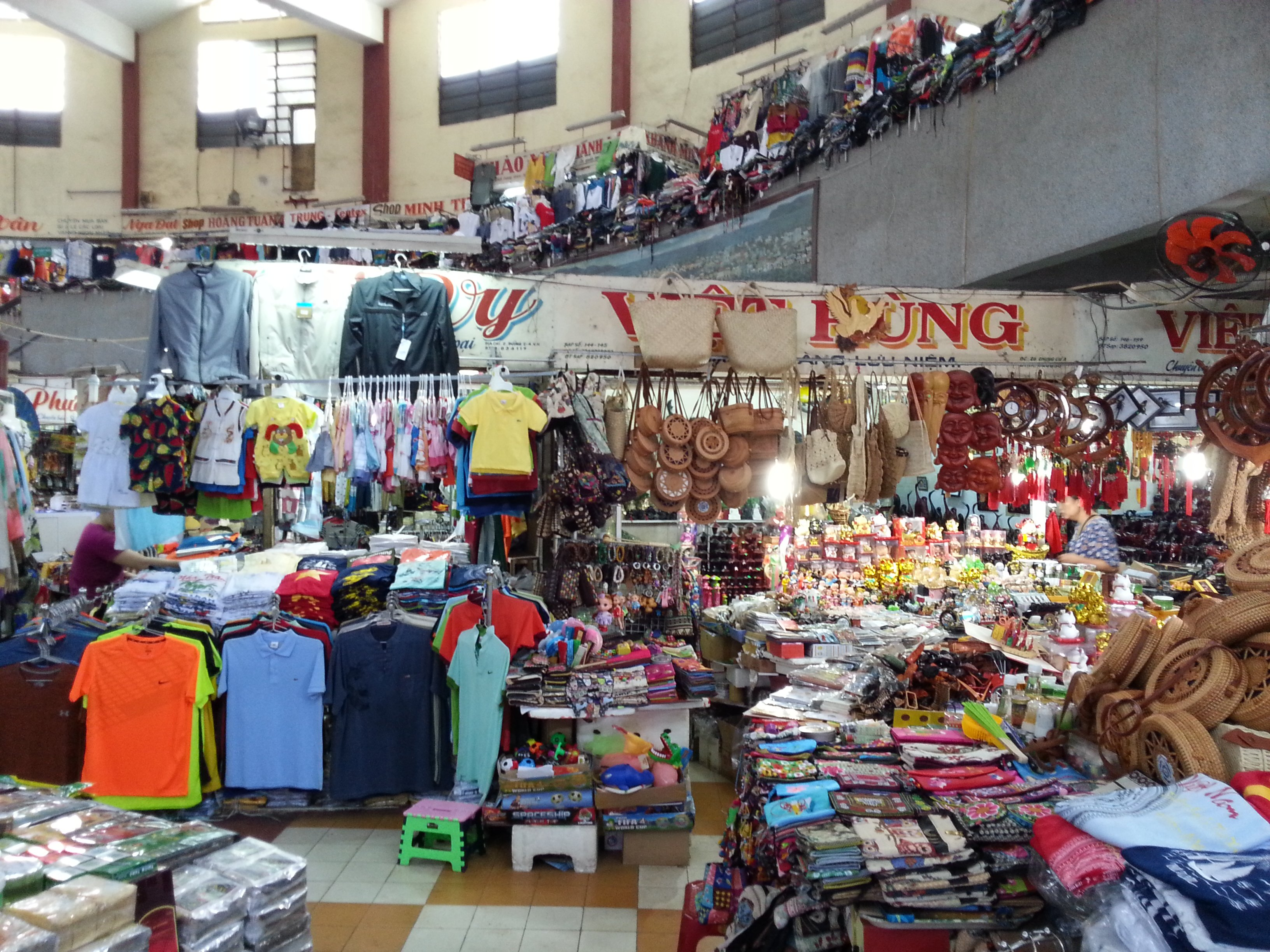 Inside the clothing market at Dam Market