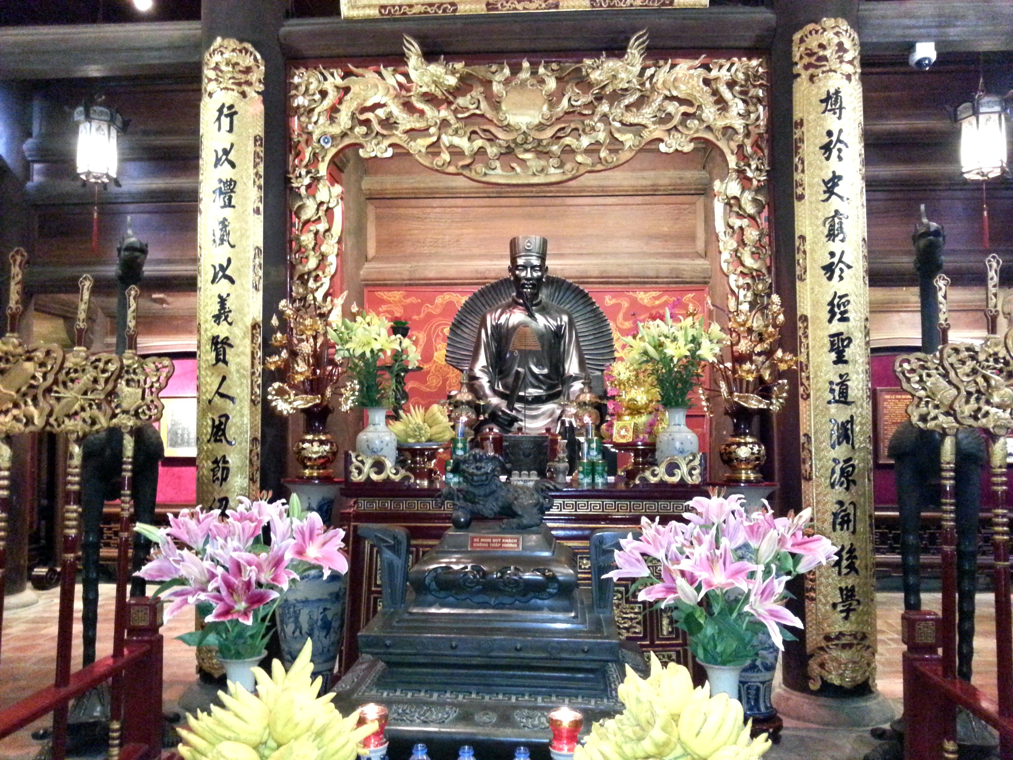 Statue of Chu Văn An in the Temple of Literature