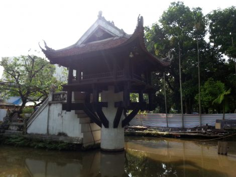 There is a small shrine inside the Pagoda