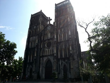 Twin bell towers of St Joseph's Cathedral