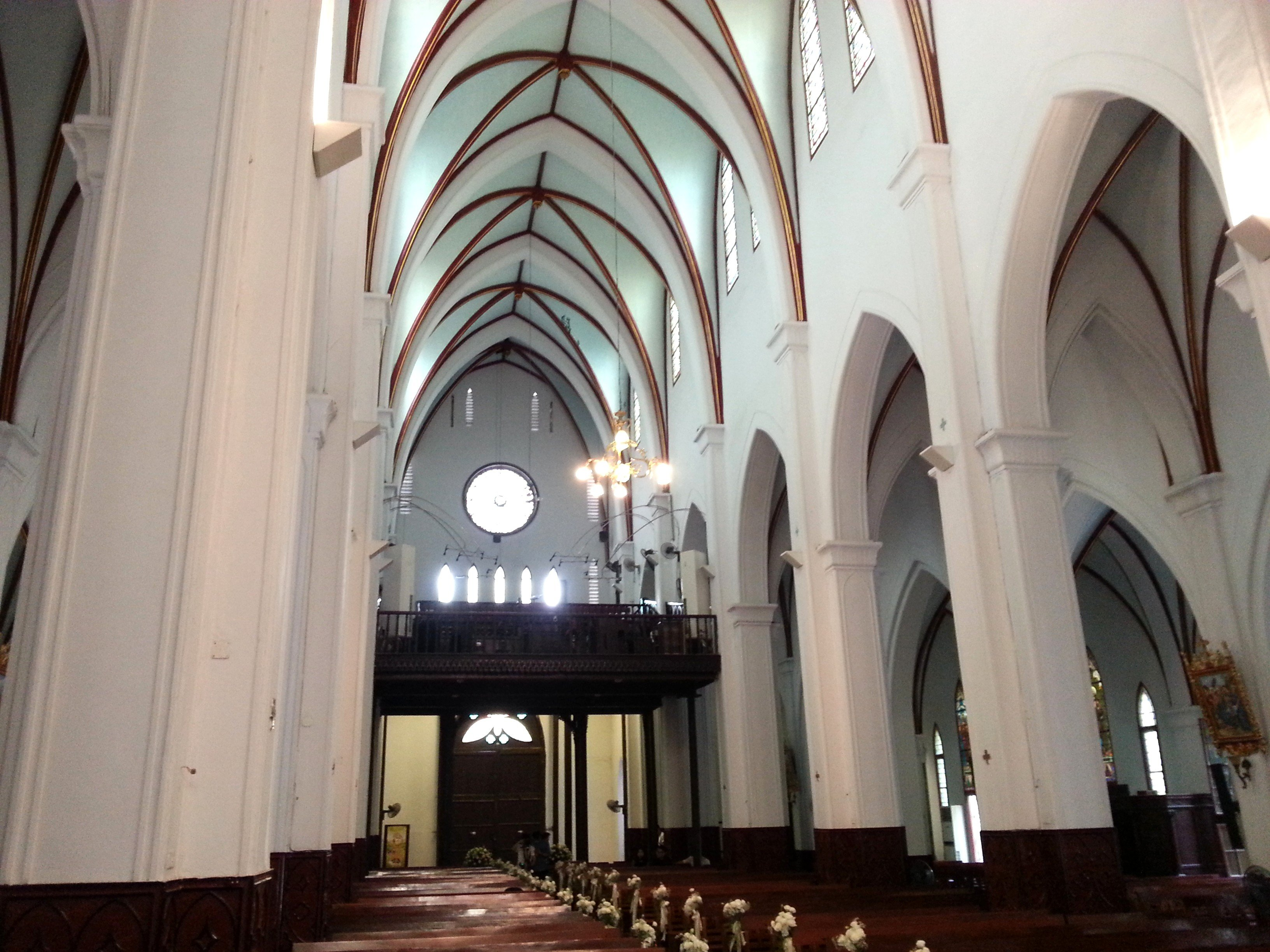 Vaulted ceilings at St Joseph's Cathedral in Hanoi