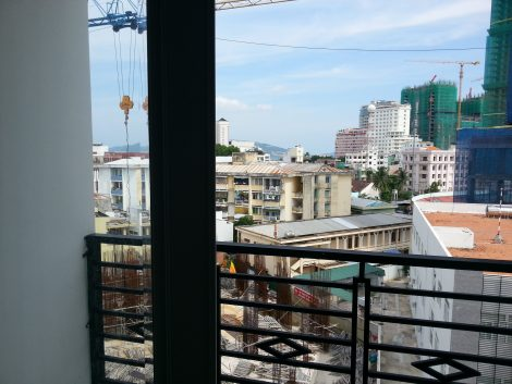 View from the balcony at the Truc Hung Hotel