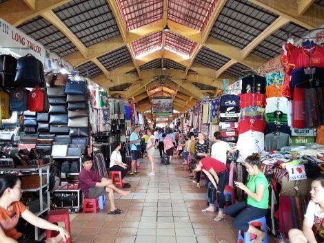 Clothes stalls at Ben Thanh Market