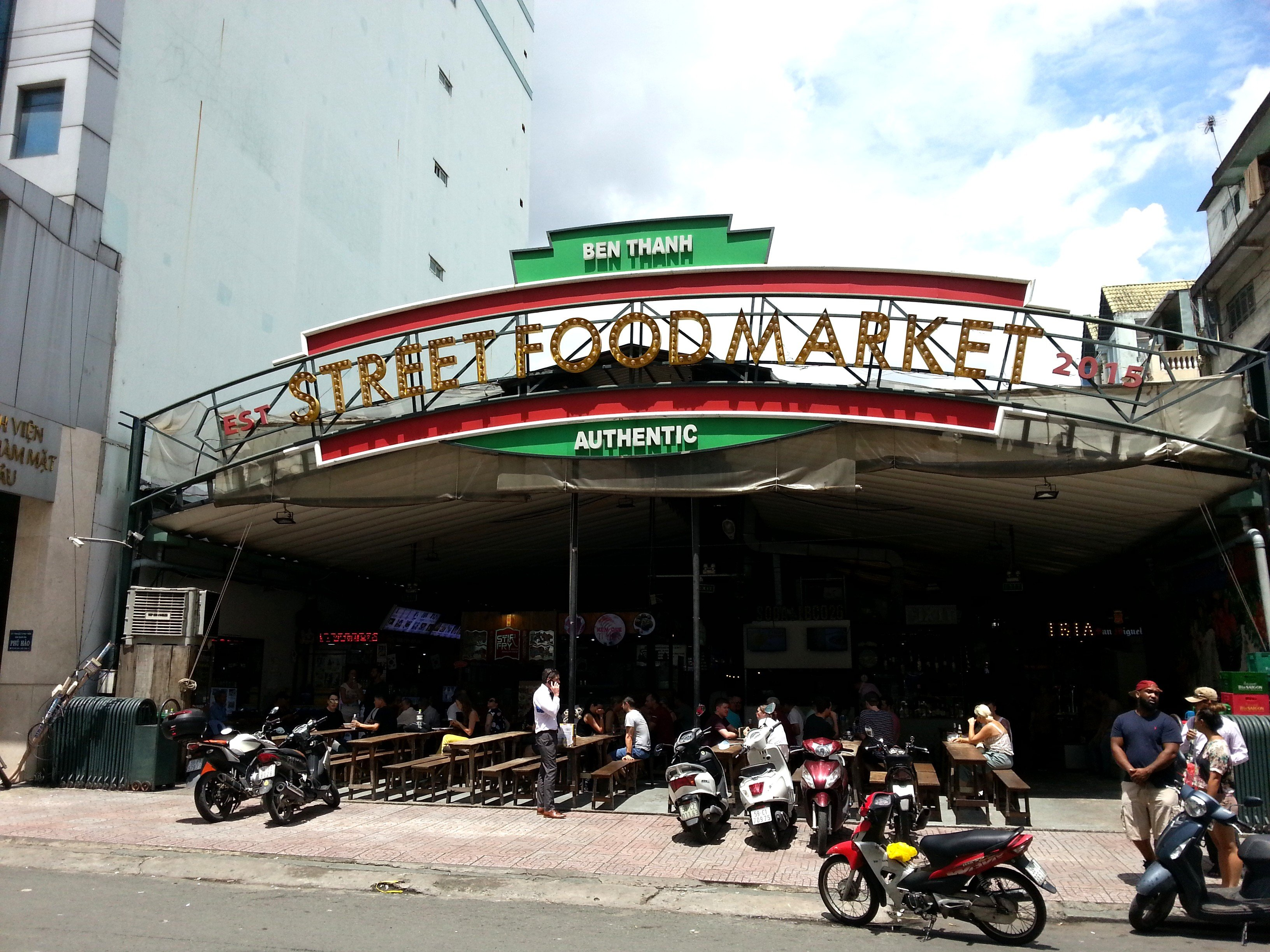 Entrance to Ben Thanh Street Food Market