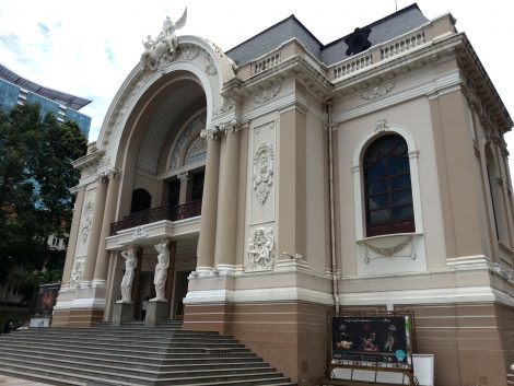 Front entrance to Saigon Opera House