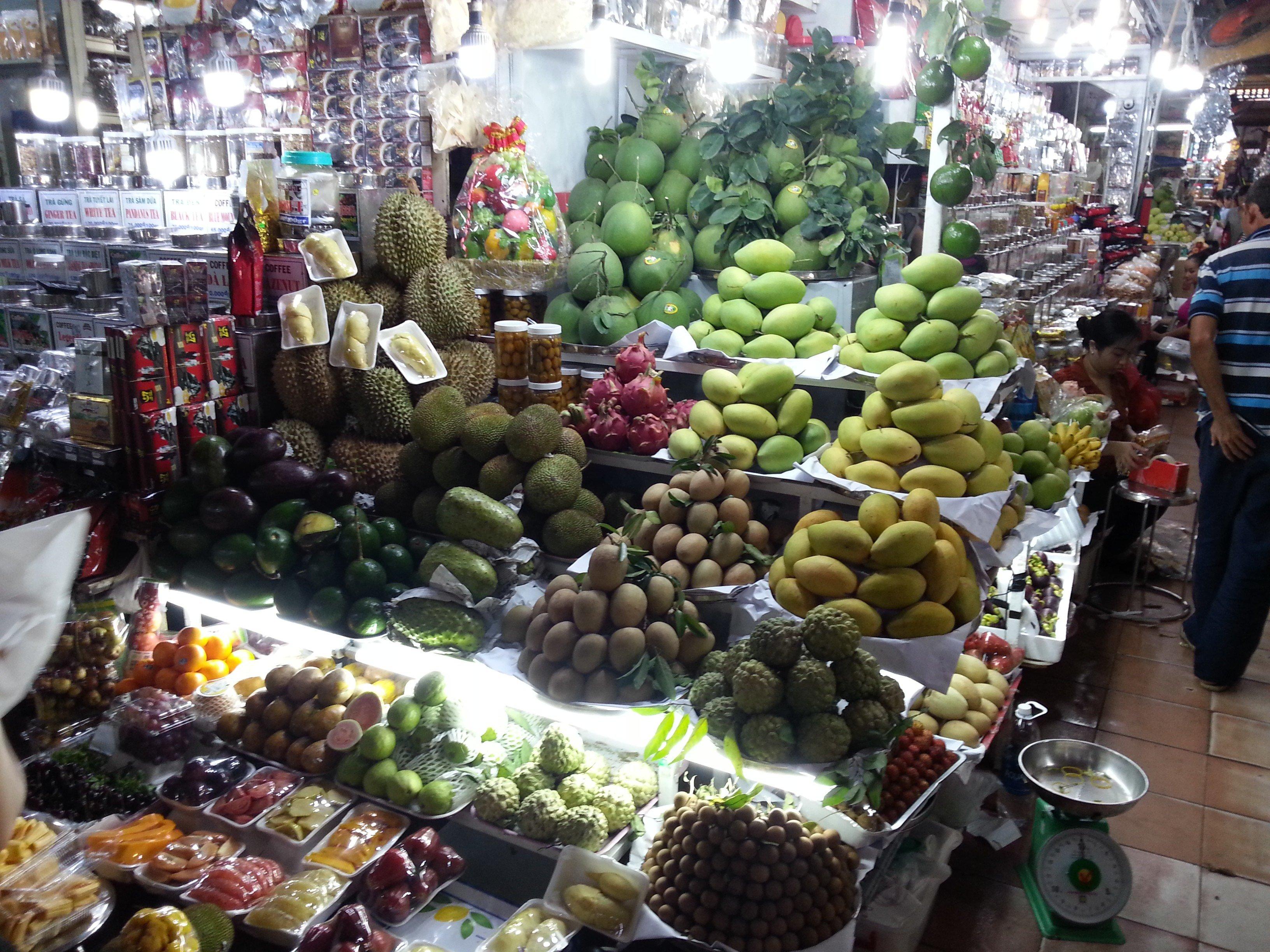Fruit stall at Ben Thanh Market
