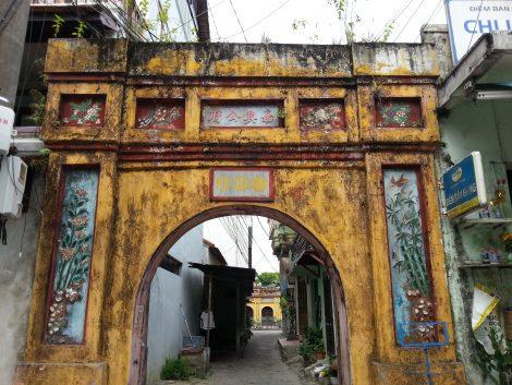 Historic gate on Bach Dang Street