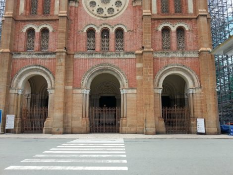 Main entrance to Saigon Notre-Dame Cathedral