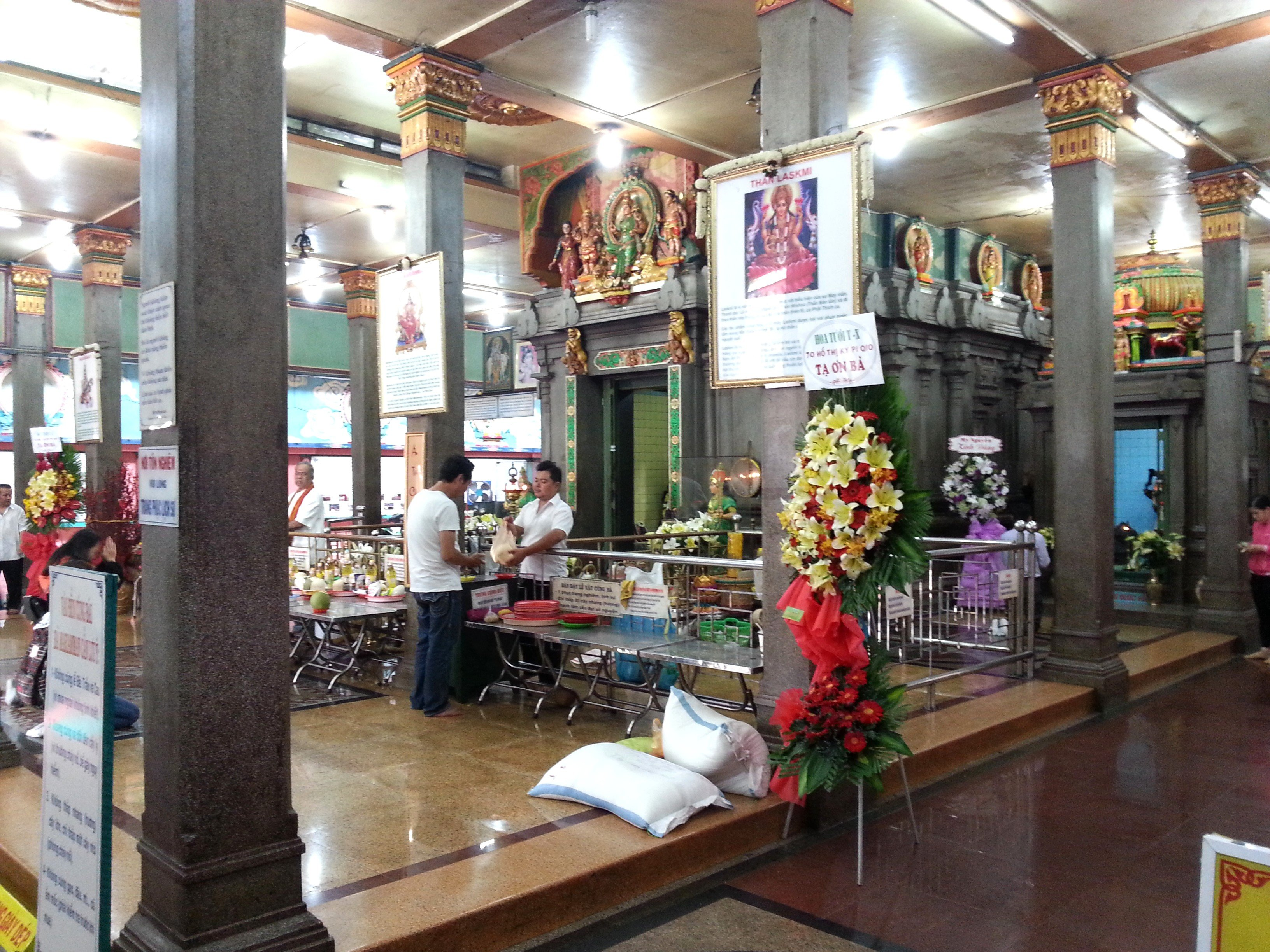Main shrine at the Mariamman Temple