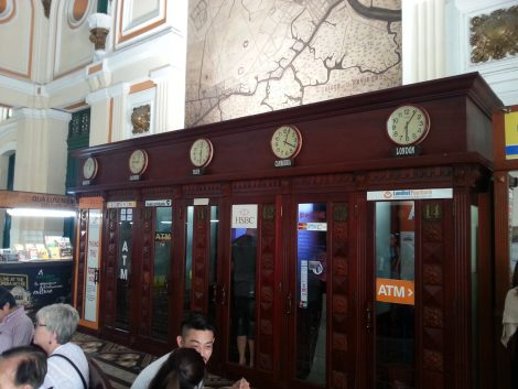Old fashioned telephone booths