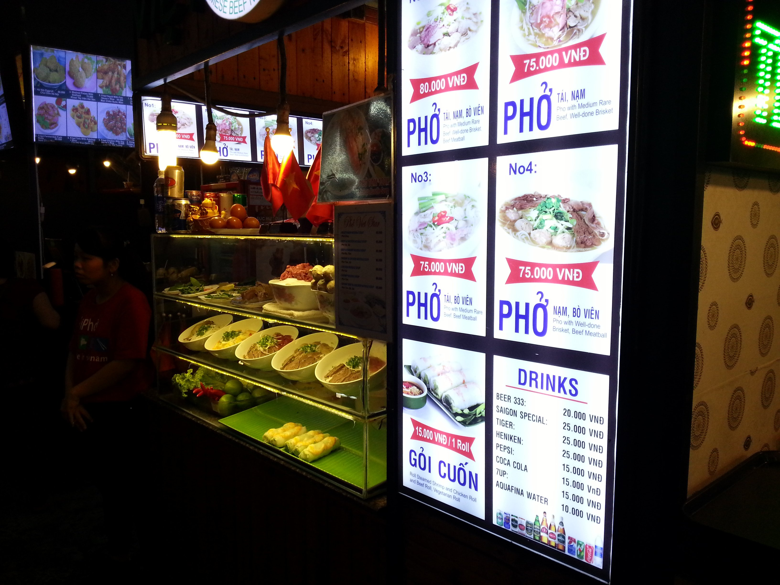 Pho stall at Ben Thanh Street Food Market