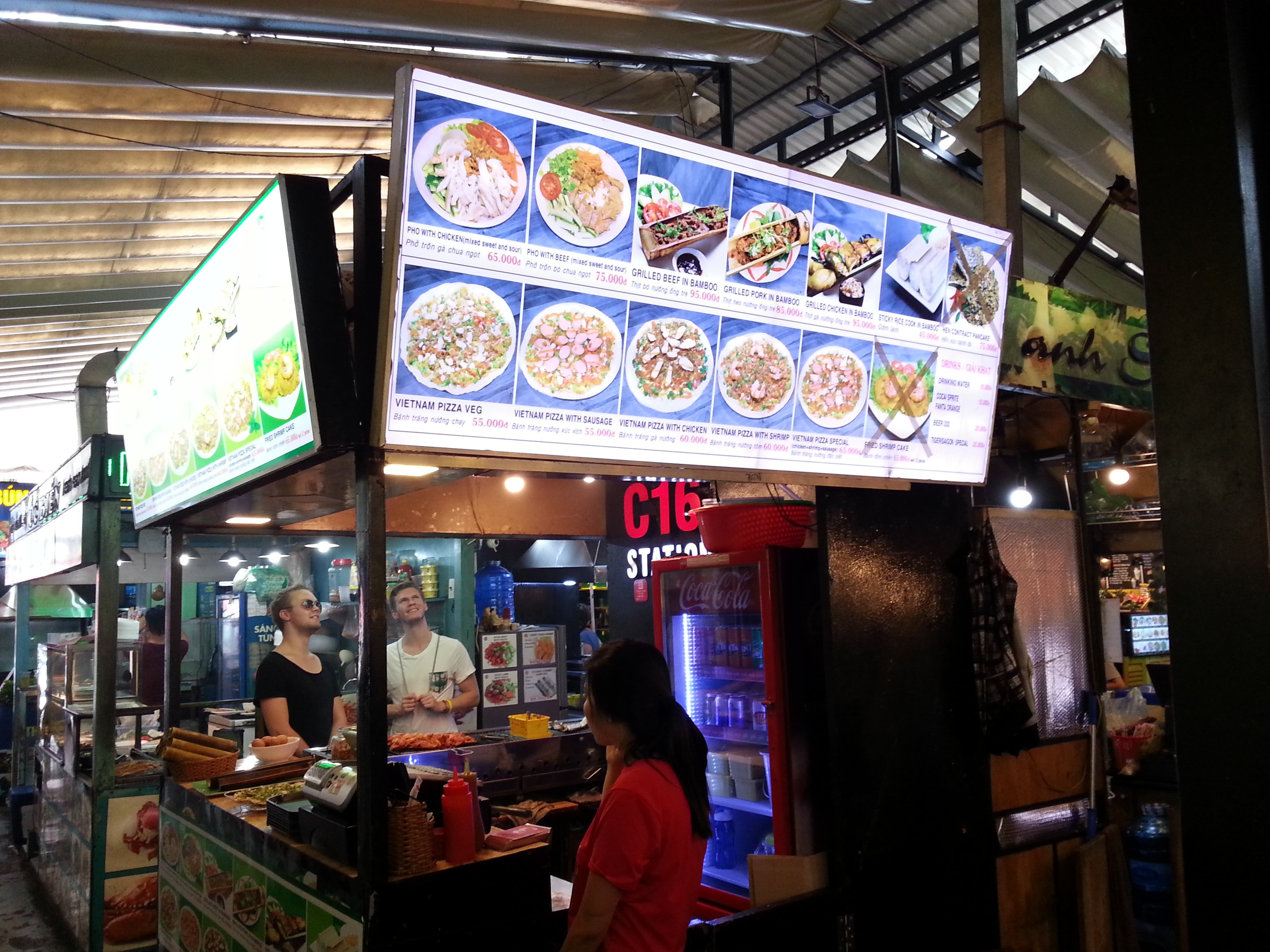 Pizza at Ben Thanh Street Food Market