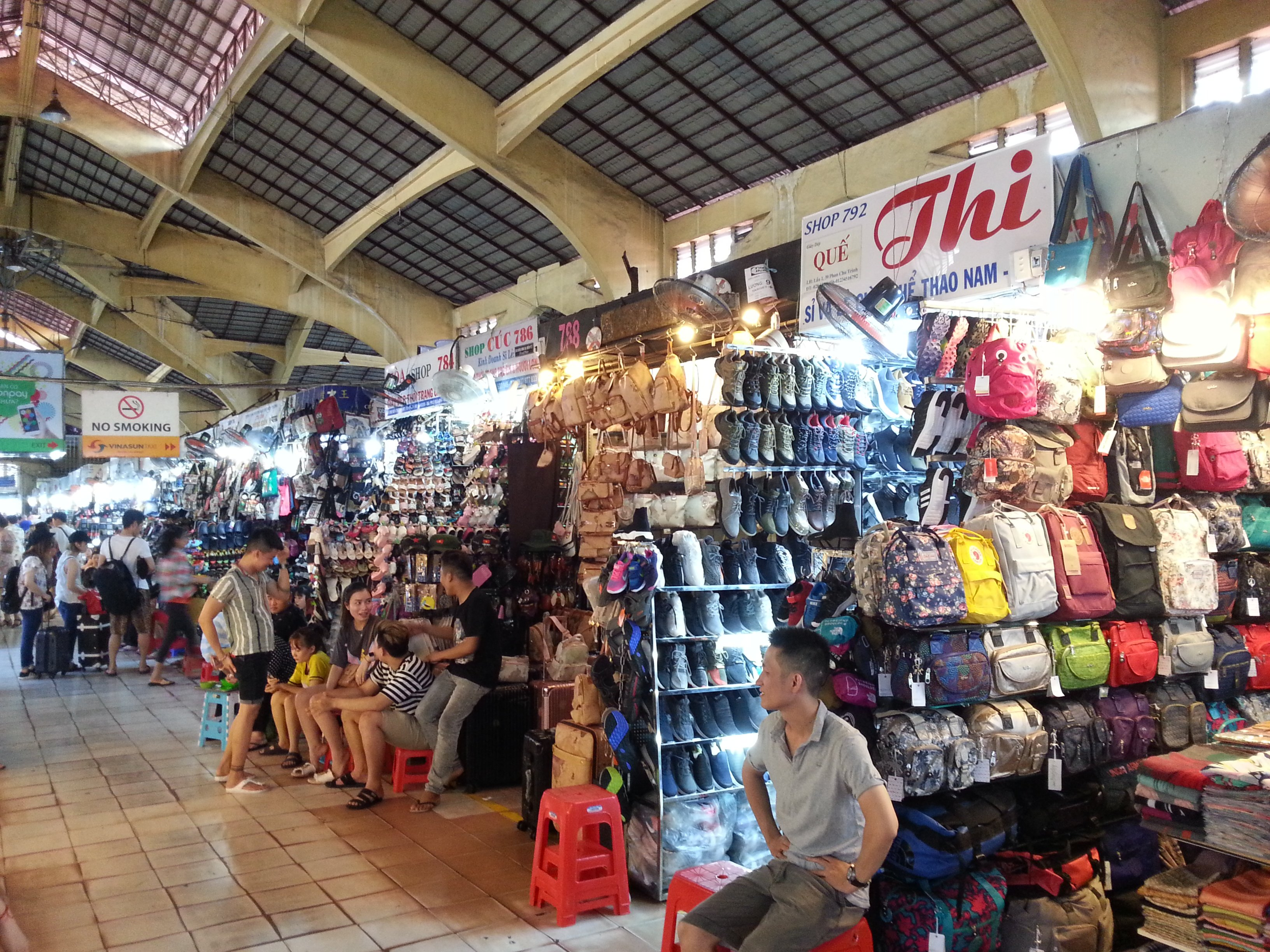 Shoes and bags at Ben Thanh Market