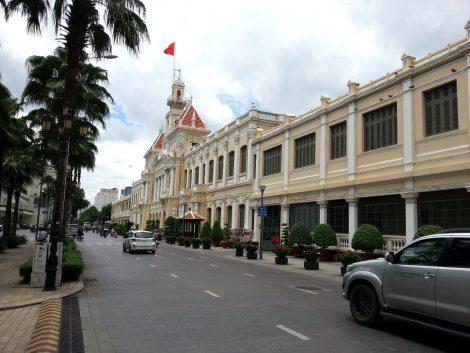 Sideview of Saigon City Hall