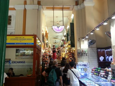 Souvenir shops in the wings of Saigon Central Post Office