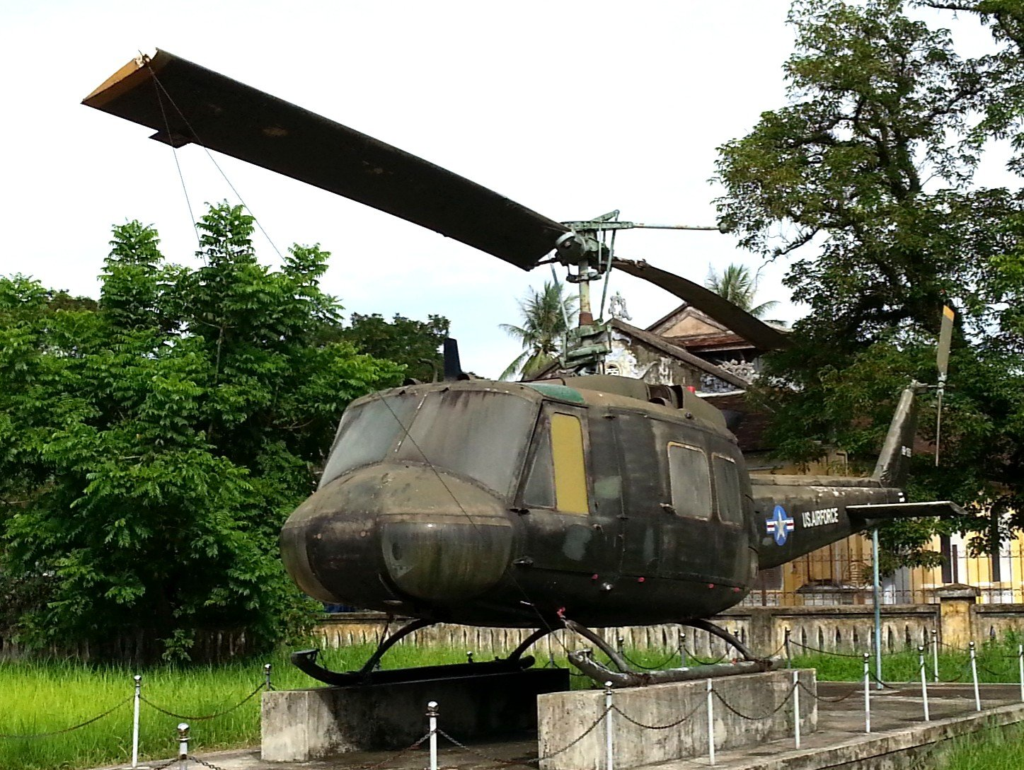 American Bell UH-1 Iroquois helicopter also known as a Huey