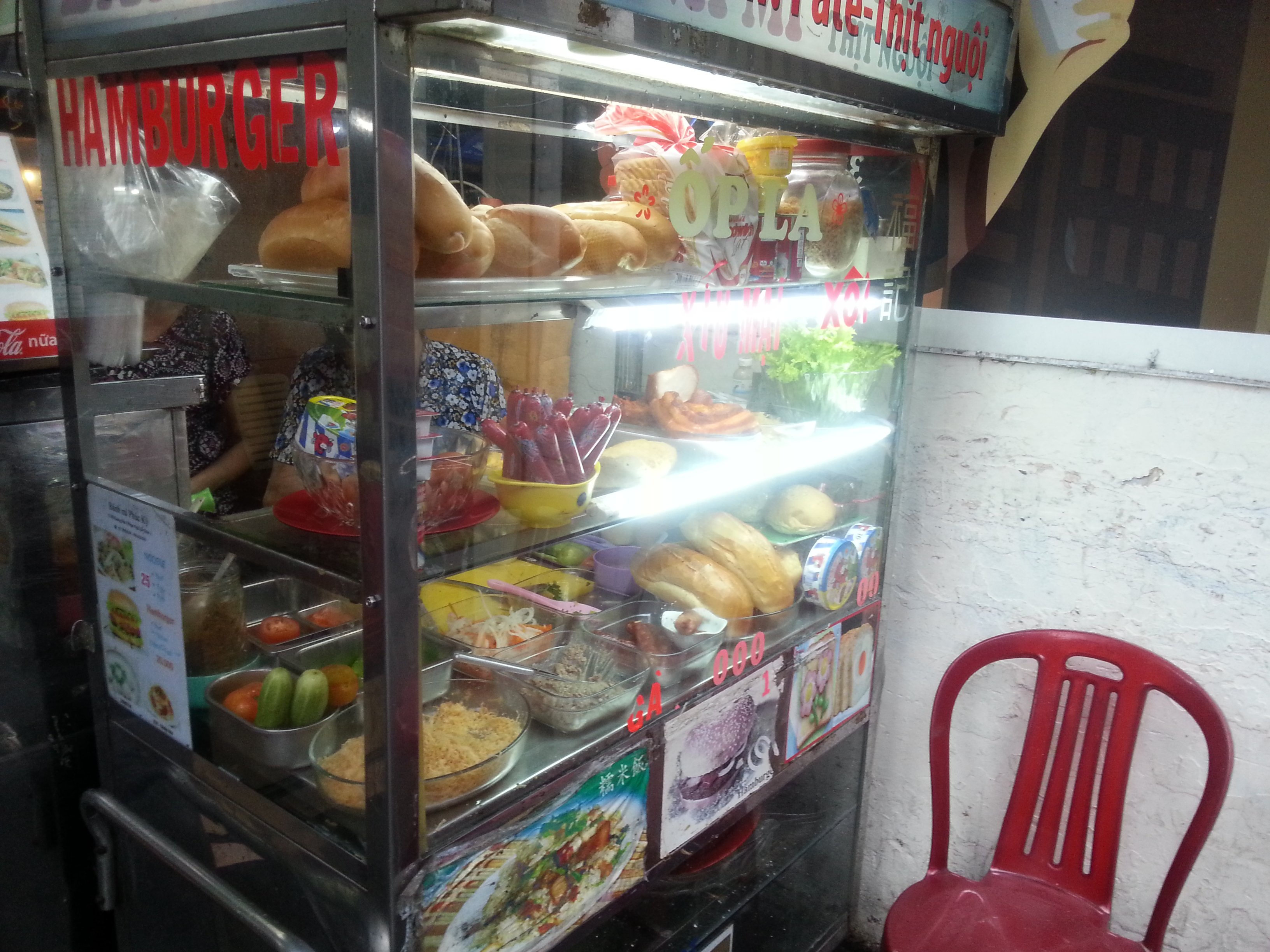 Banh mi stall in Ho Chi Minh City