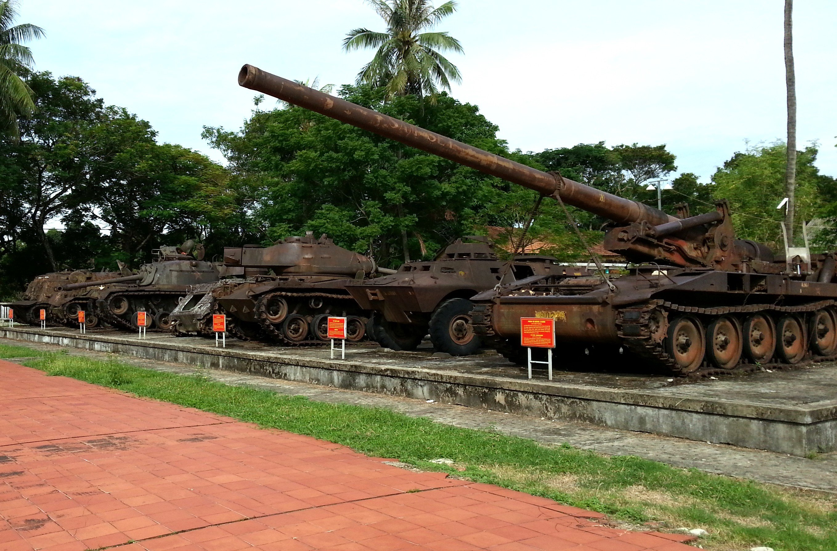 Captured American and Republic of Vietnam tanks