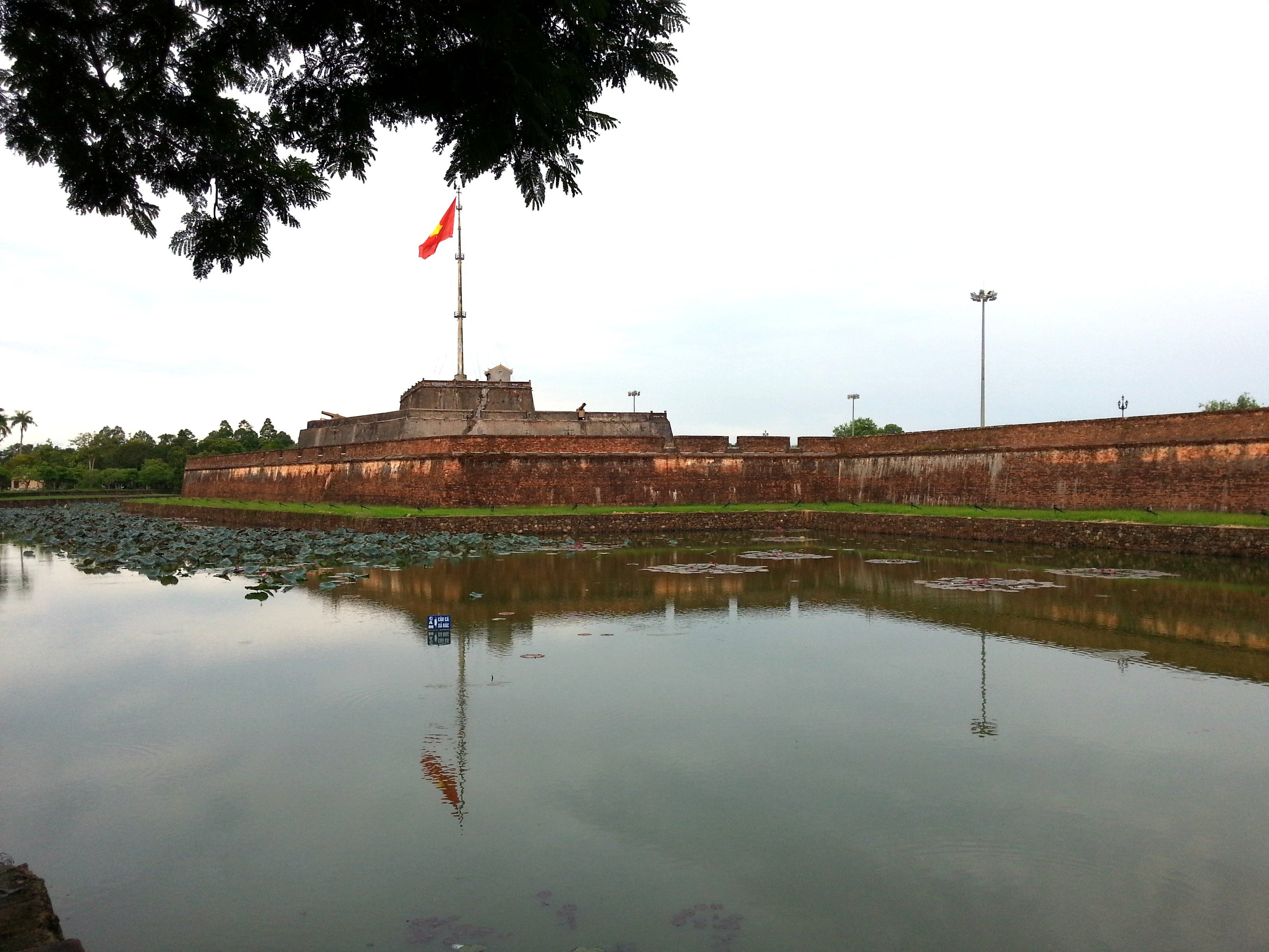 Flag pole and walls around the Imperial Citadel