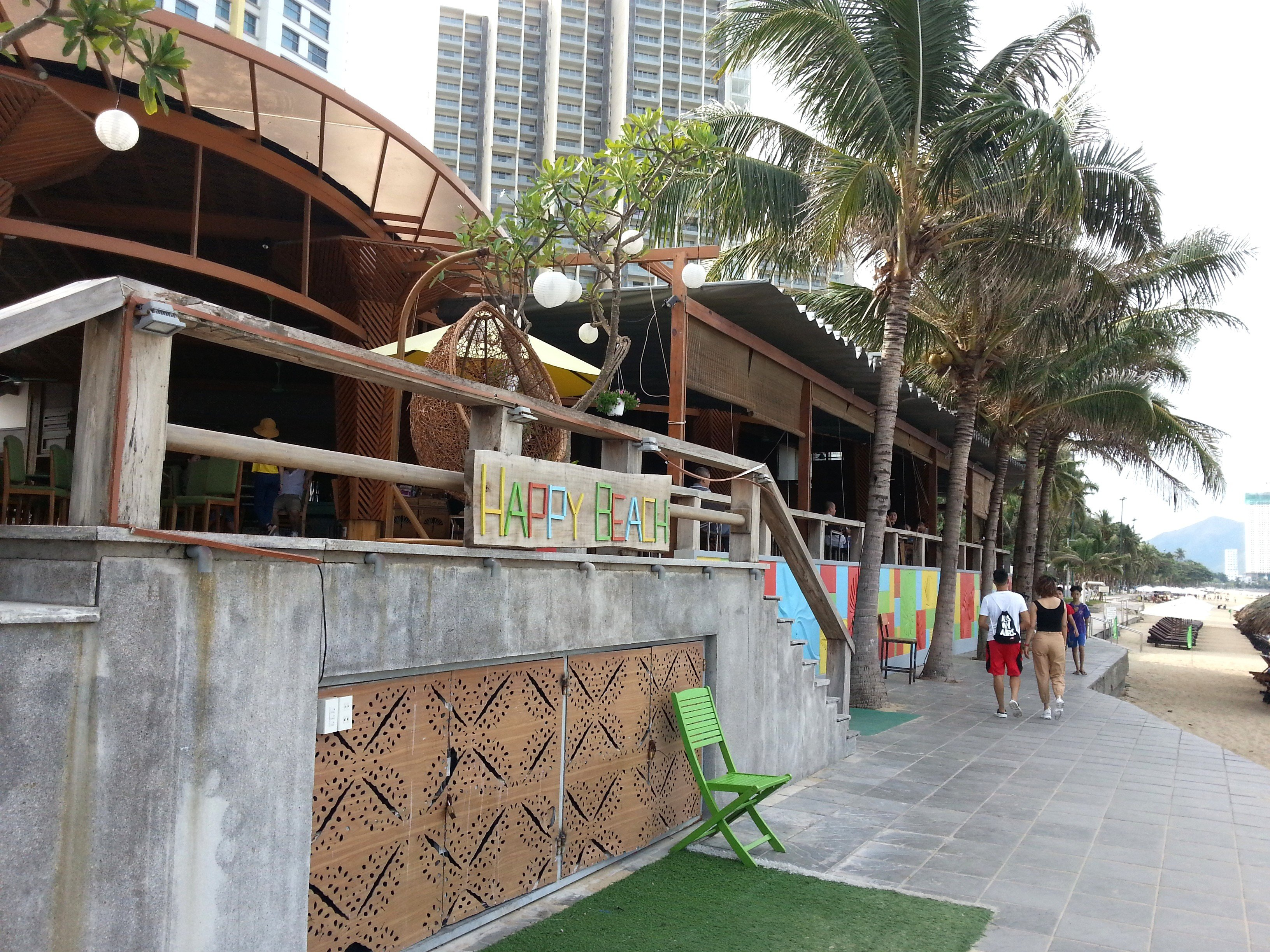 Happy Beach Restaurant on Nha Trang Beach