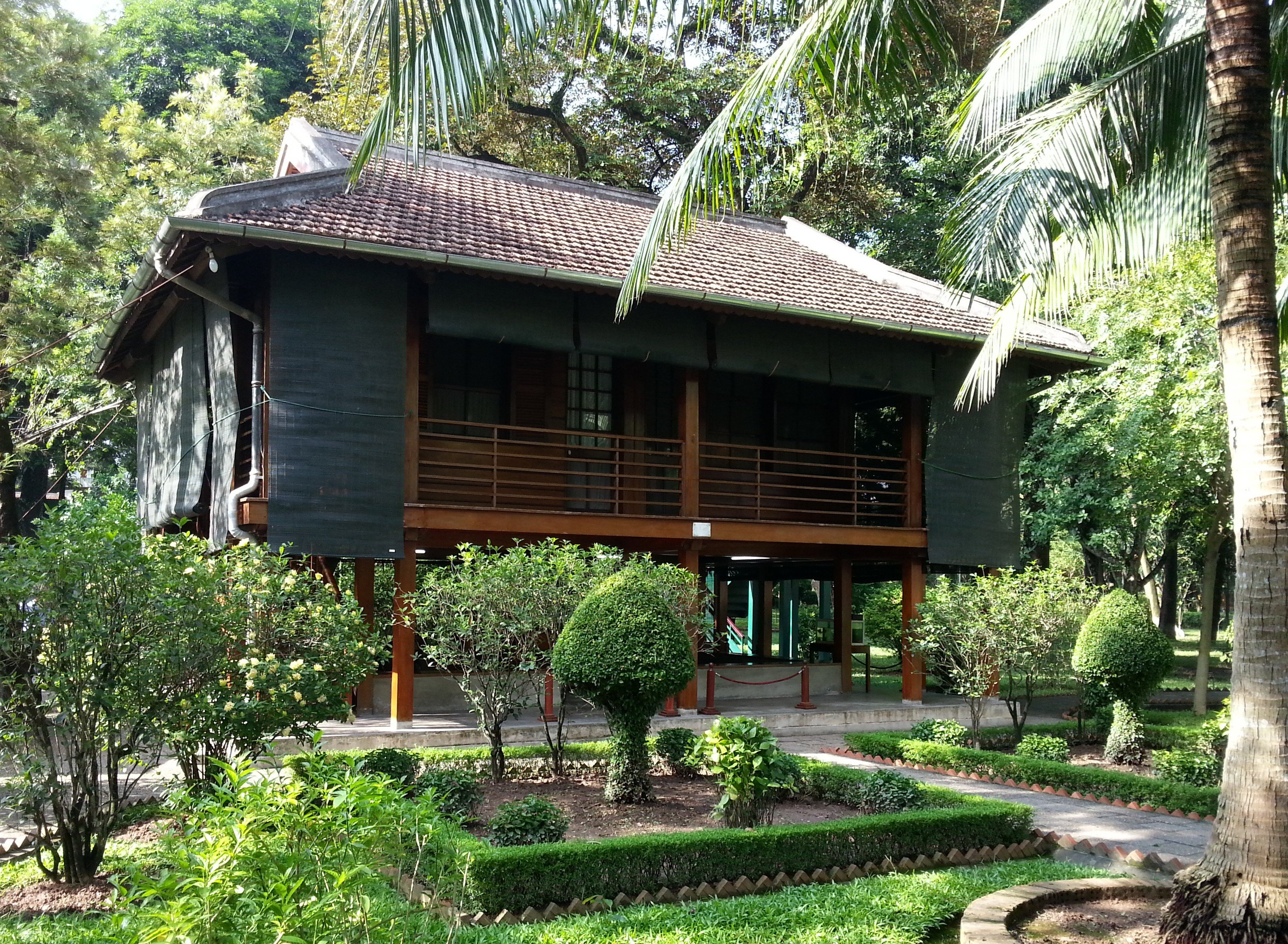House on stilts where Ho Chi Minh lived