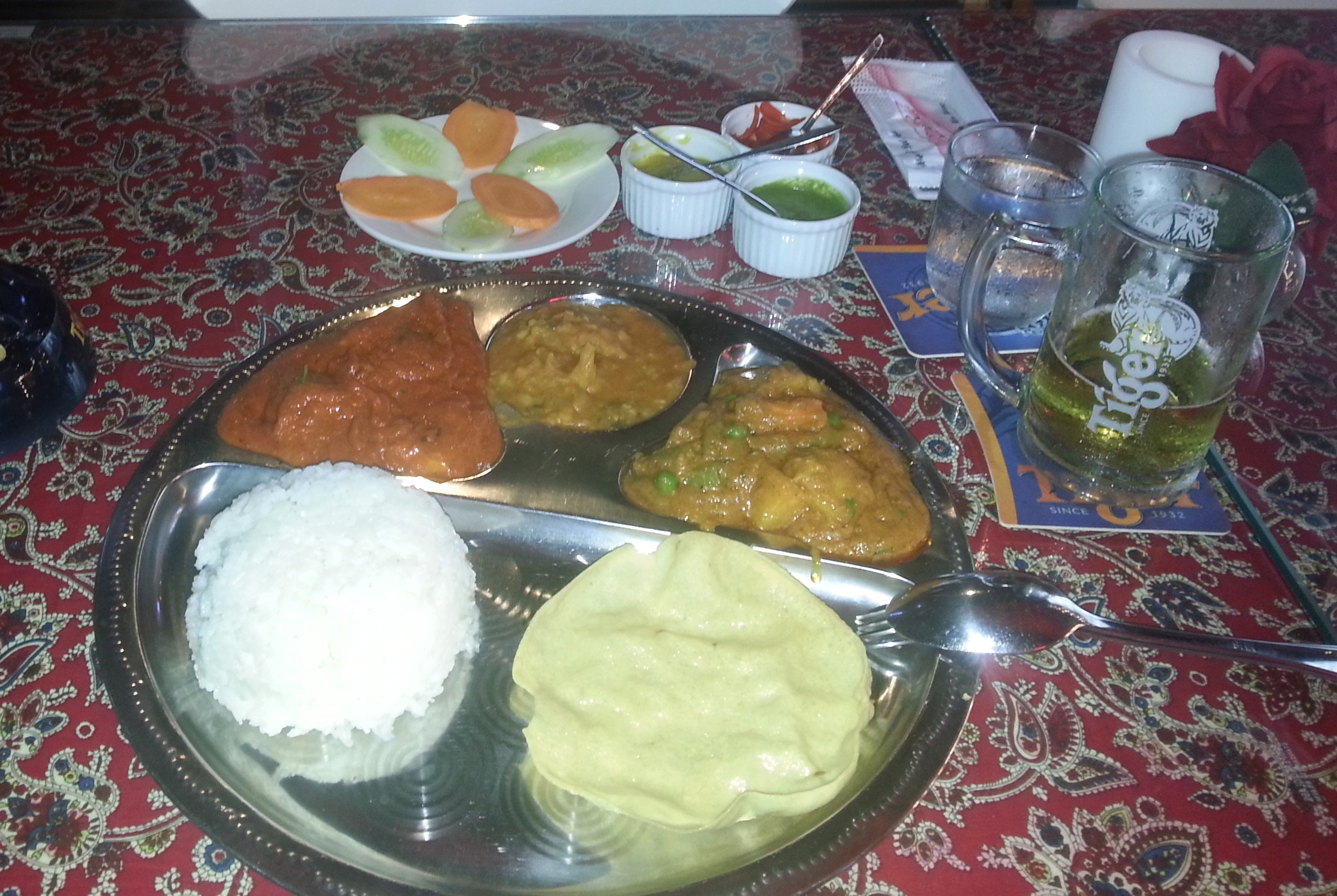 Indian food at the Bollywood Restaurant on Bui Vien Stret