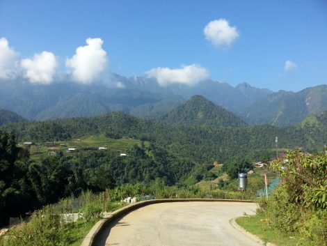 It's a steep road out of Sapa