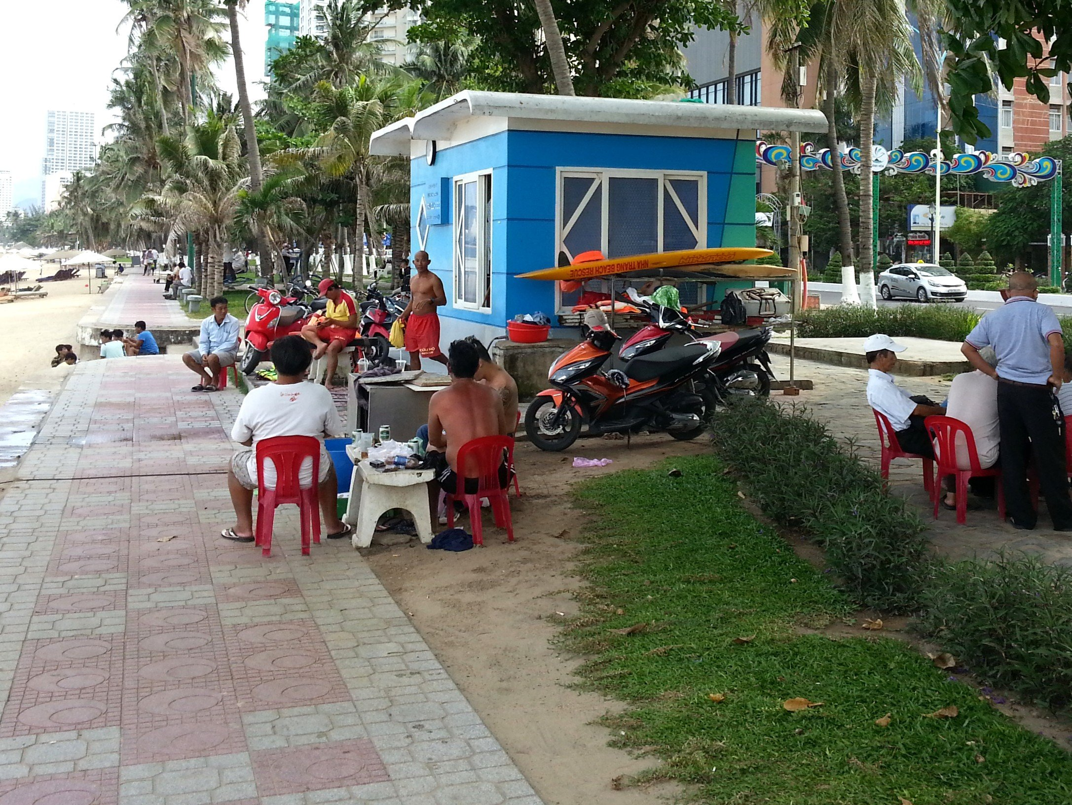 Life Guard station on Nha Trang Beach