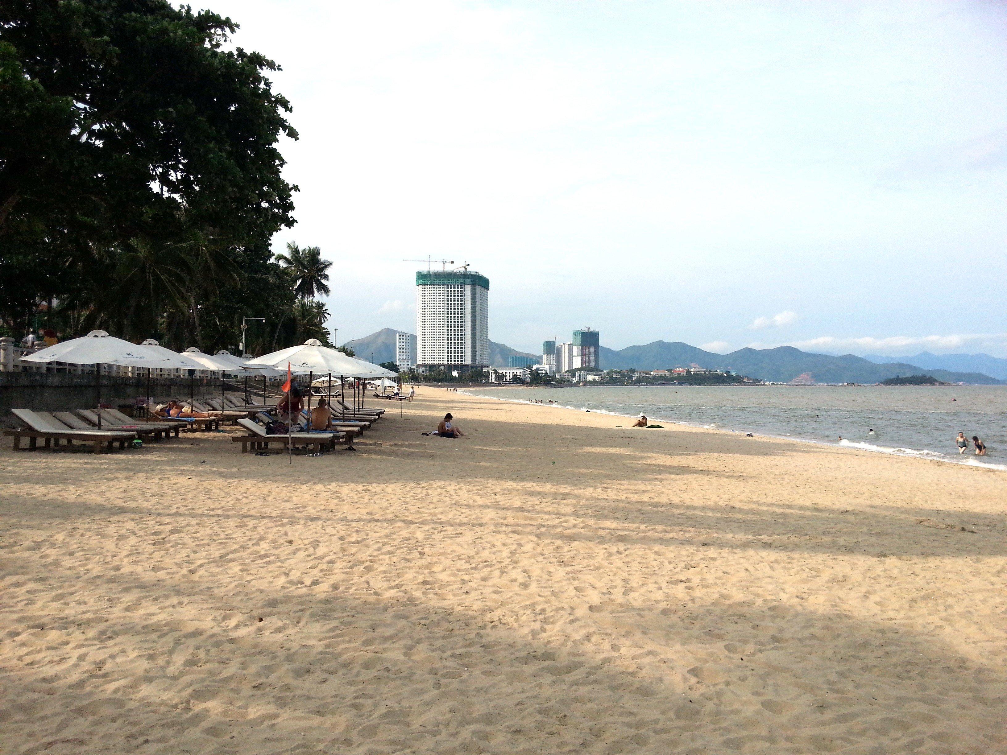 Looking north on Nha Trang Beach