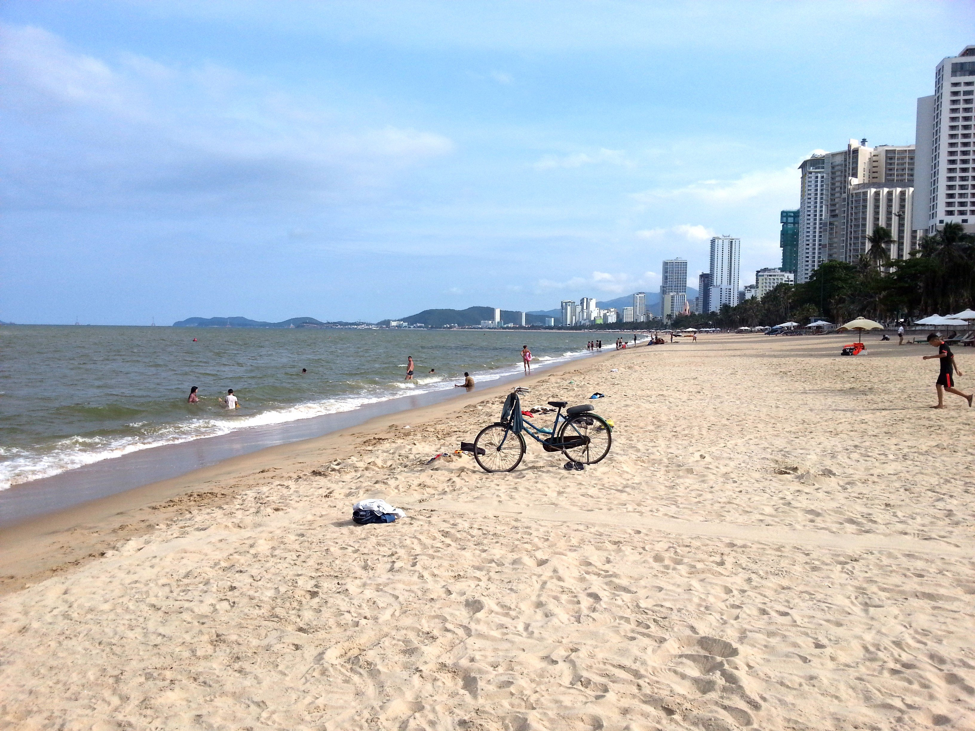 Looking south on Nha Trang Beach