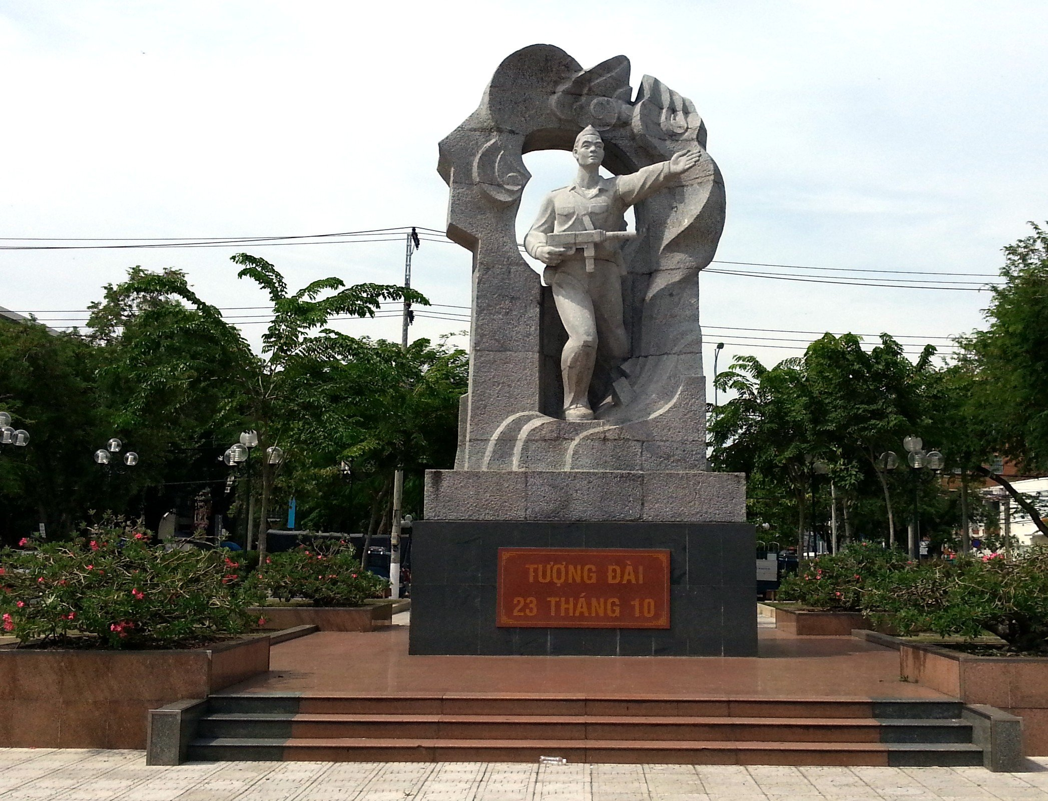 Memorial Statue to Vo Van Ky