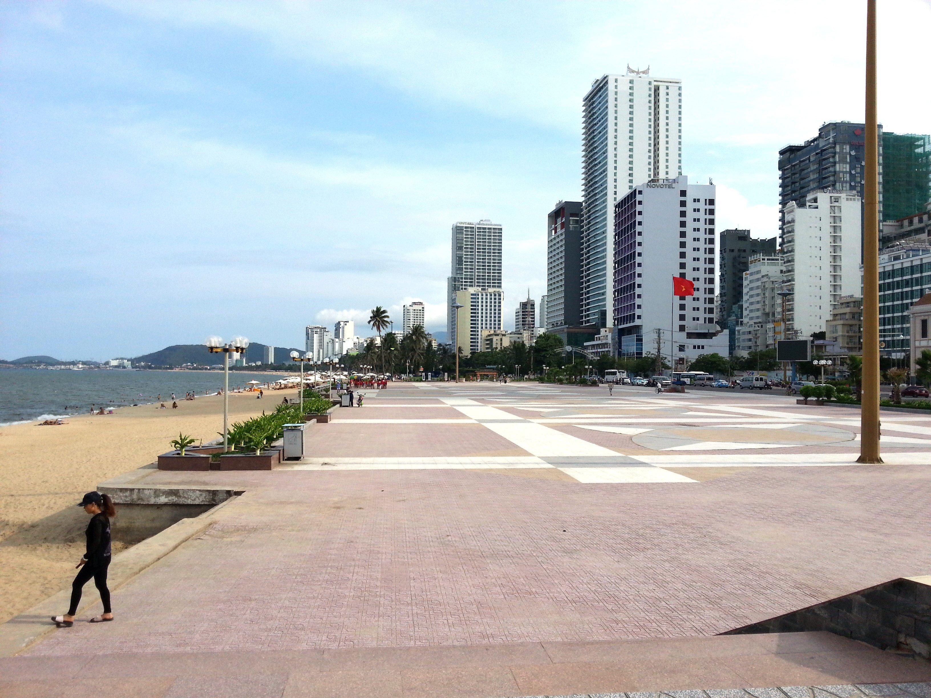 Public plaza on Nha Trang Beach