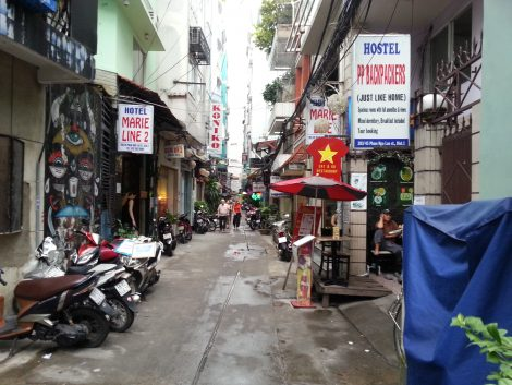 Side street in Pham Ngu Lao