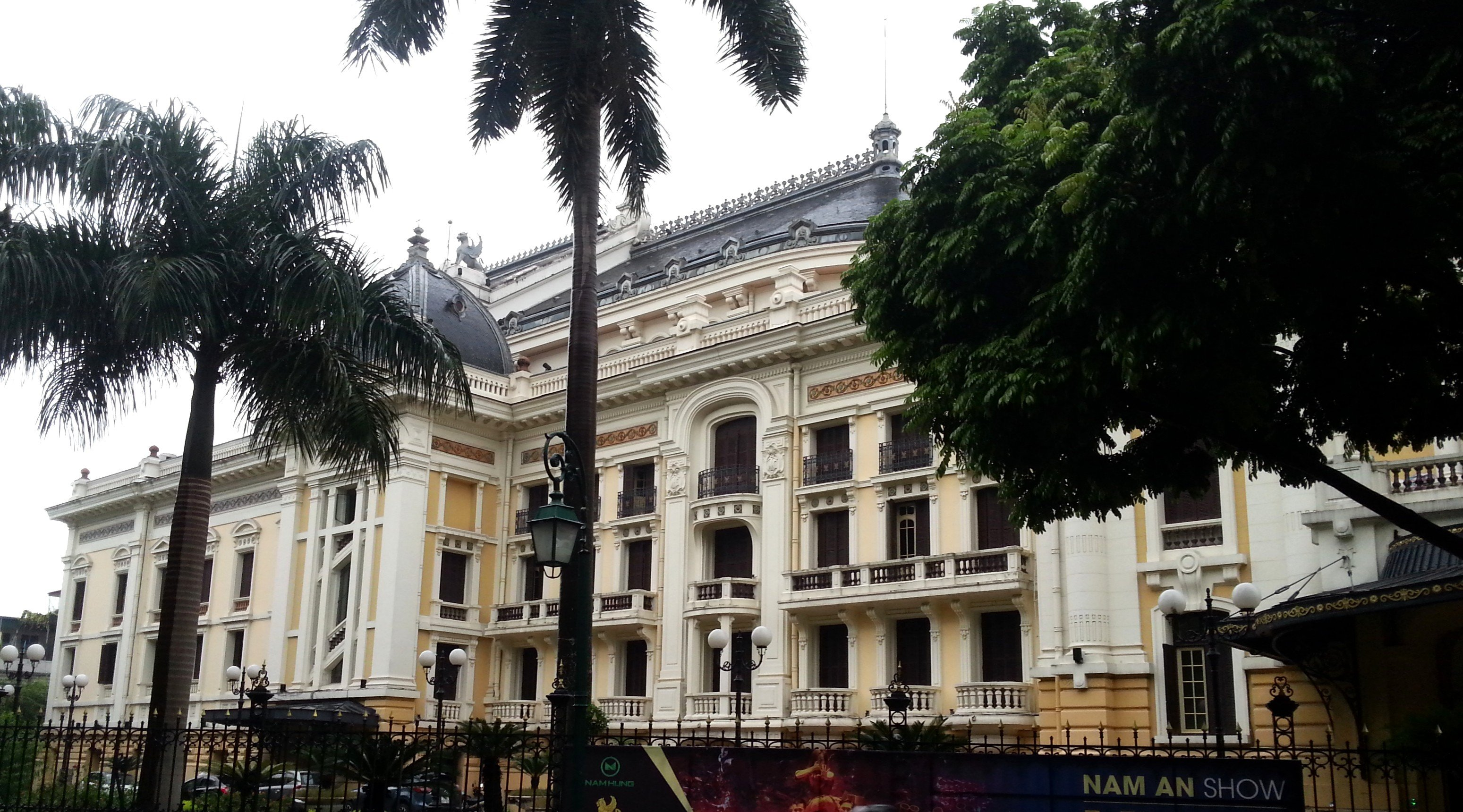Side view of Hanoi Opera House