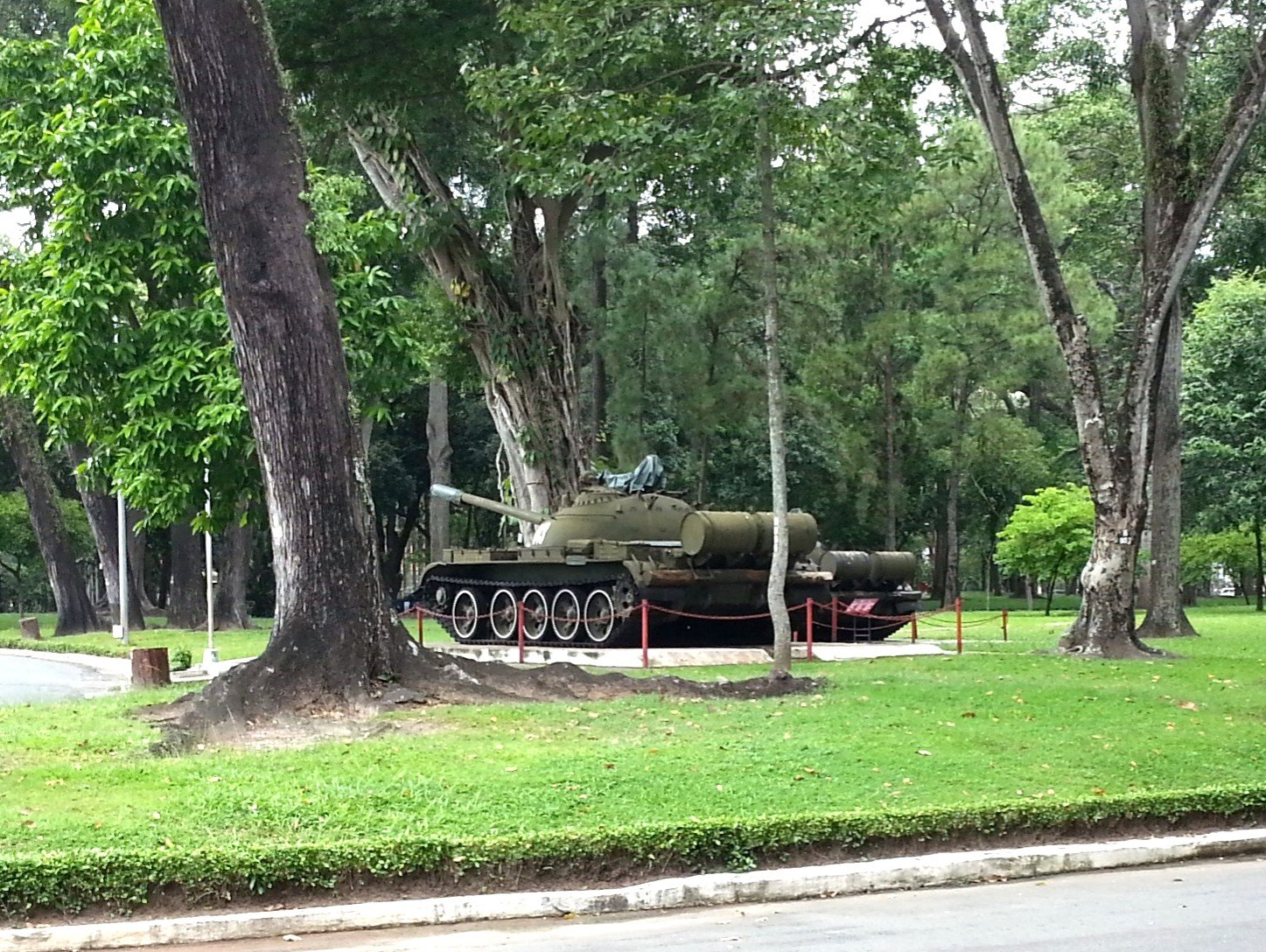 T-54 tank that ended the Vietnam War