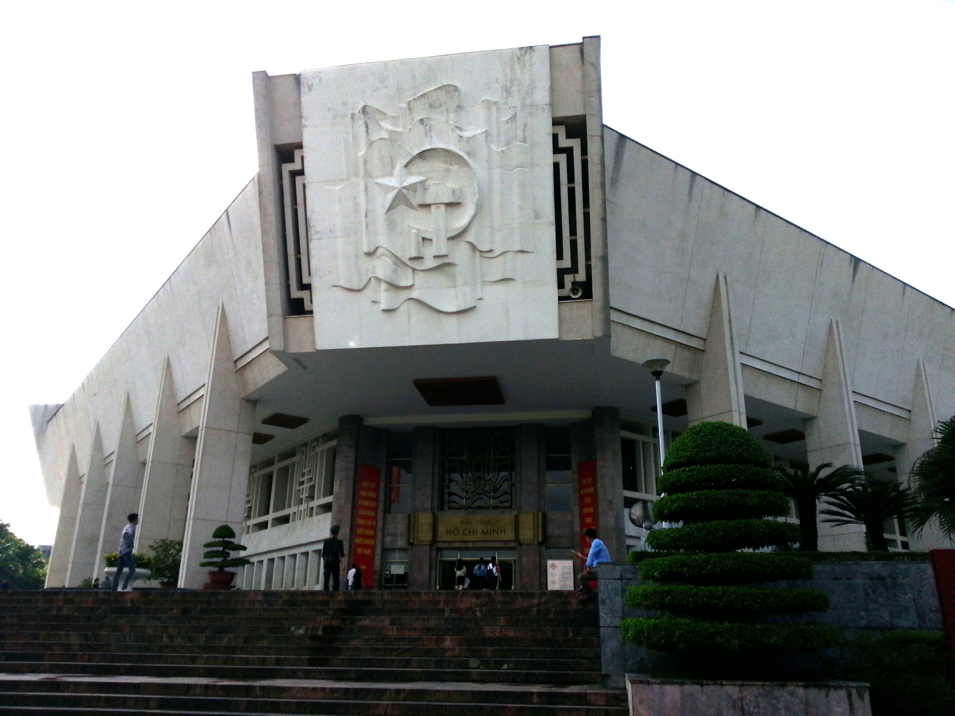 The Ho Chi Minh Museum is in a Soviet style building