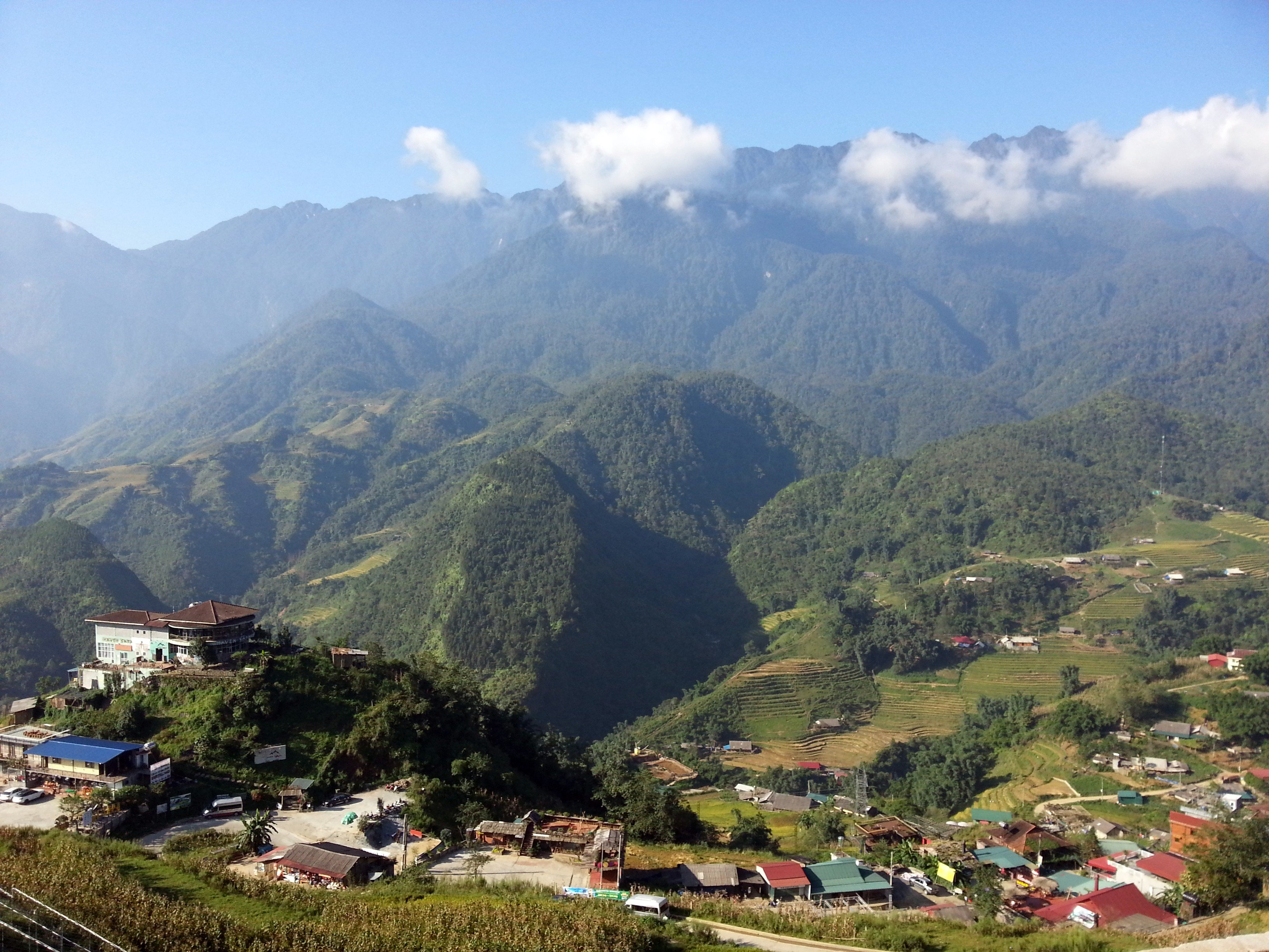 The view on the way to start the walk to Cat Cat Village