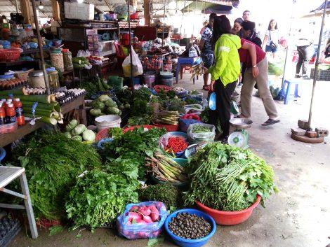 Vegetable stall at Sapa Market