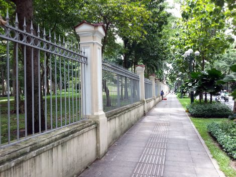 Wall around the Reunification Palace