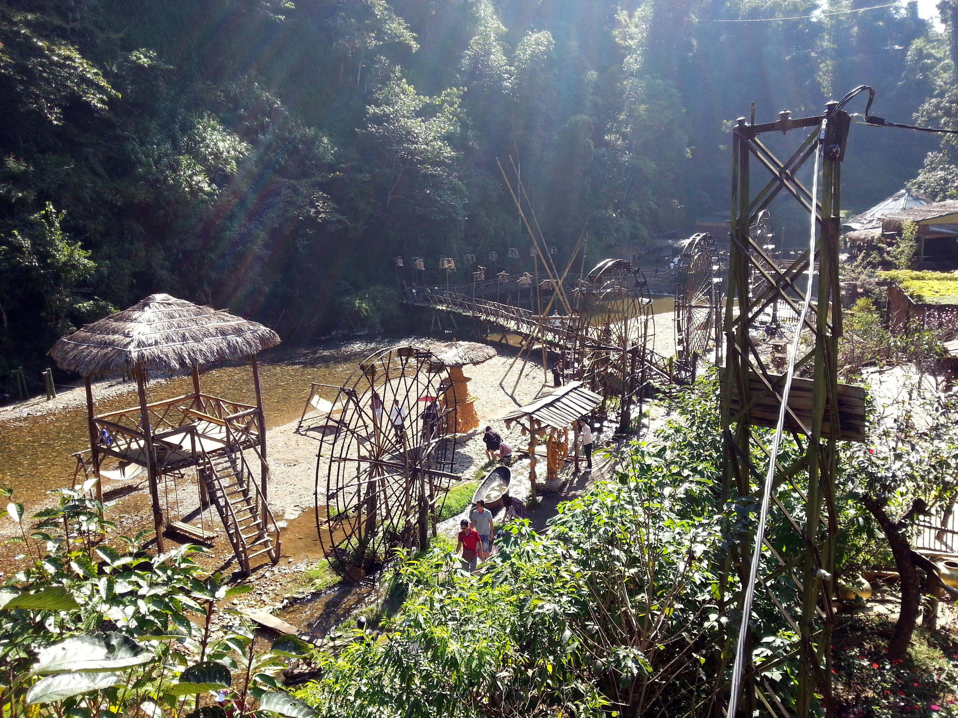 Waterwheels in Cat Cat Village