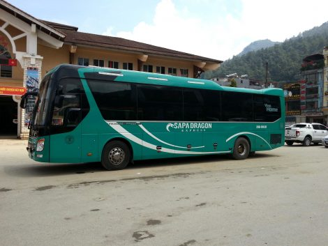 Express Bus at Sapa Bus Station