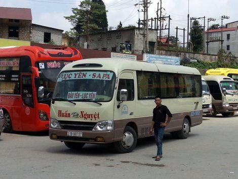 Minibus at Sapa Bus Station