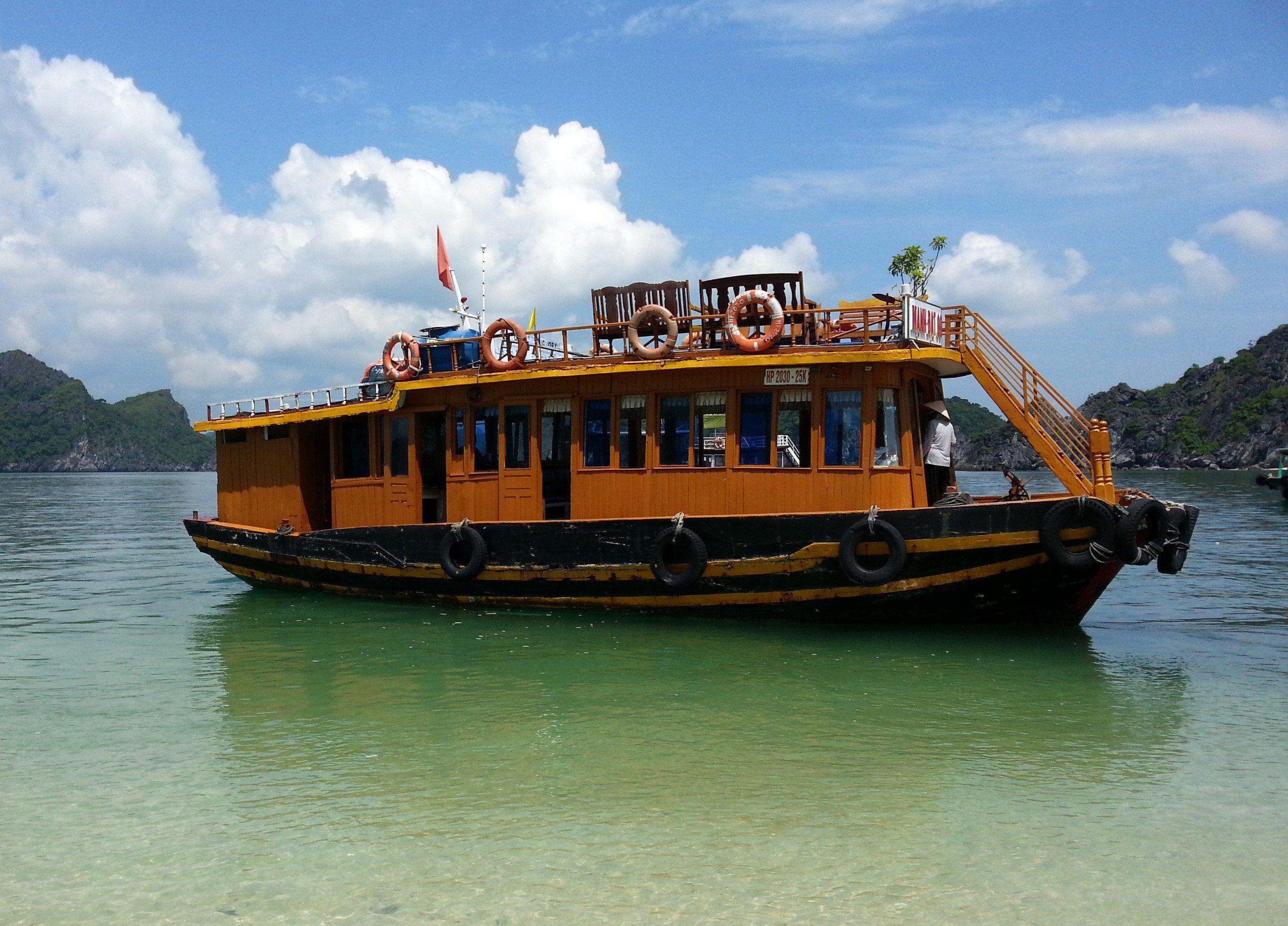 Our tour boat around Lan Ha Bay