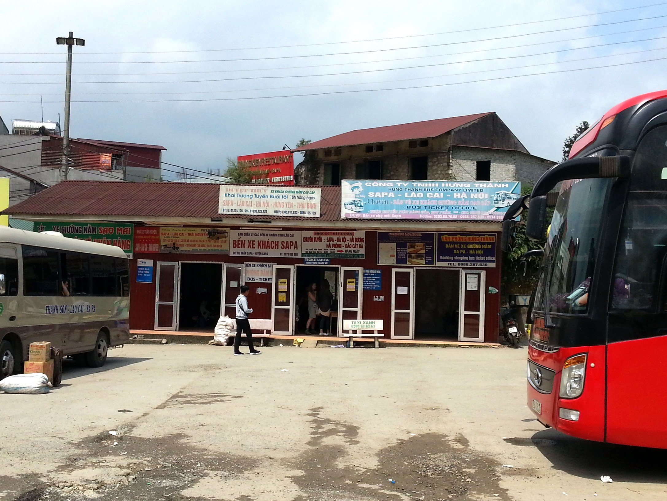 Ticket Office at Sapa Bus Station