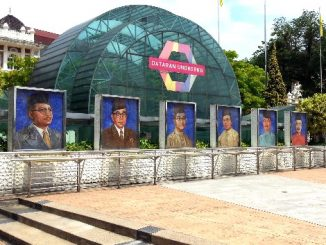 Pictures of Malaysia's Prime Ministers in Kuala Lumpur