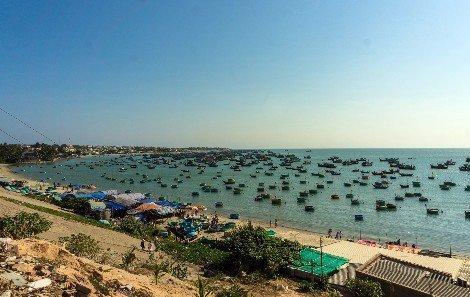 Fishing boats in Mui Ne